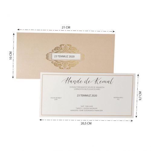 2021 Düğün Davetiyesi Modeli EKP40125