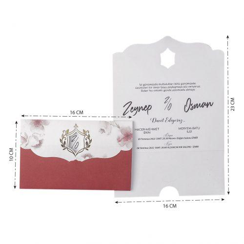 2021 Düğün Davetiyesi Modeli EKP40131