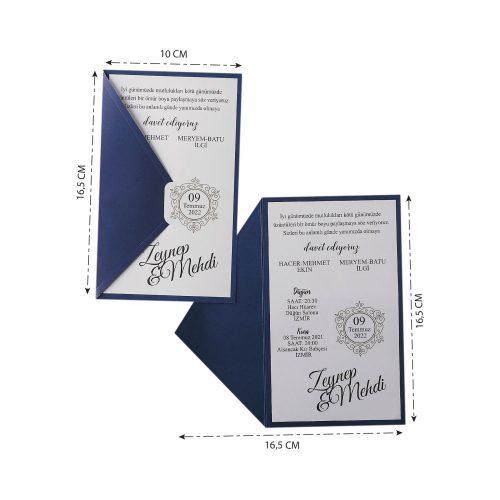 2021 Düğün Davetiyesi Modeli EKP40139