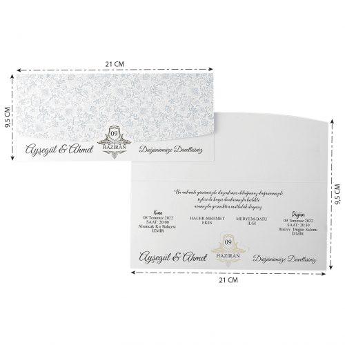2021 Düğün Davetiyesi Modeli EKP40143
