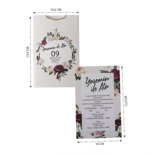 2021 Düğün Davetiyesi Modeli EKP40167