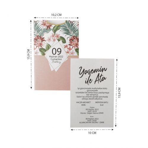 2021 Düğün Davetiyesi Modeli EKP40168