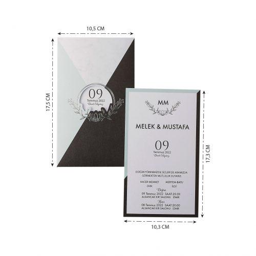 2021 Düğün Davetiyesi Modeli EKP40173