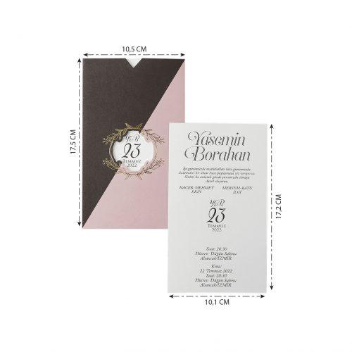 2021 Düğün Davetiyesi Modeli EKP40178