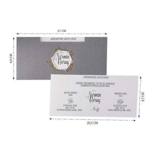 2021 Düğün Davetiyesi Modeli EKP40182