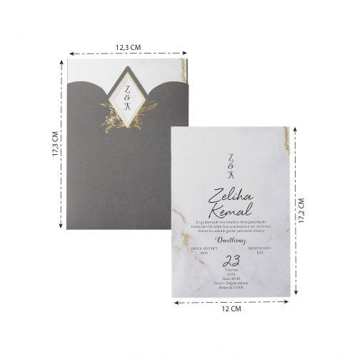 2021 Düğün Davetiyesi Modeli EKP40195