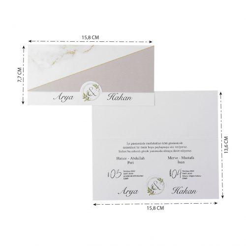 2021 Düğün Davetiyesi Modeli EKP40201
