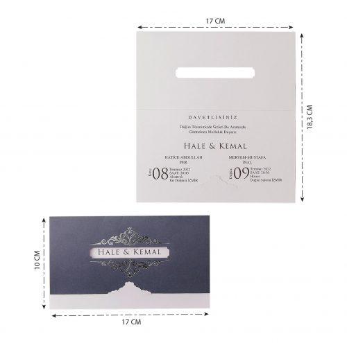 2021 Düğün Davetiyesi Modeli EKP40207