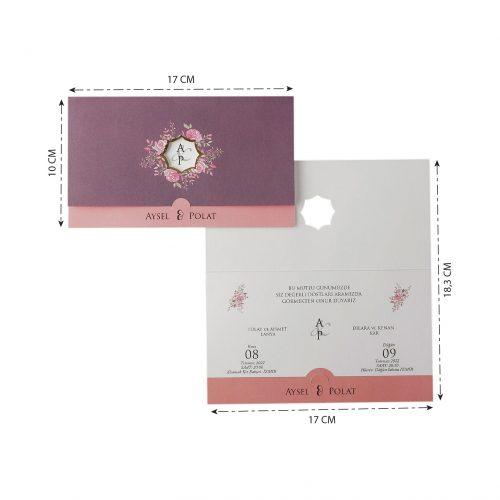 2021 Düğün Davetiyesi Modeli EKP40209