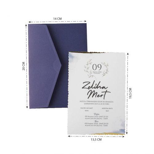 2021 Düğün Davetiyesi Modeli EKP40210