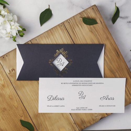 2021 Düğün Davetiyesi Modeli EKP40122