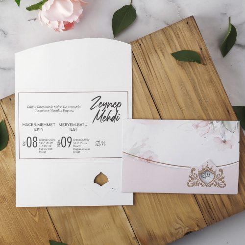 2021 Düğün Davetiyesi Modeli EKP40129