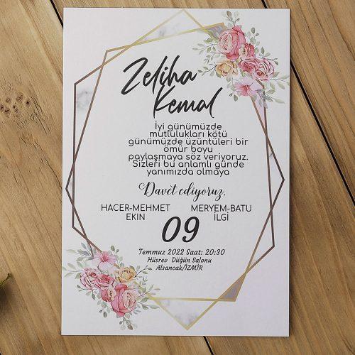2021 Düğün Davetiyesi Modeli EKP40151