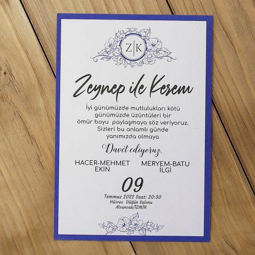 2021 Düğün Davetiyesi Modeli EKP40154