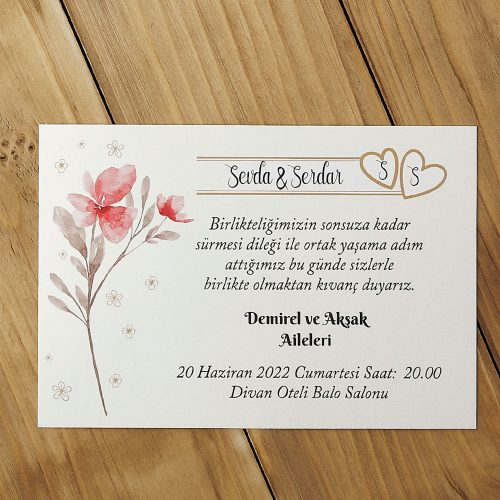 2021 Düğün Davetiyesi Modeli EKP40158