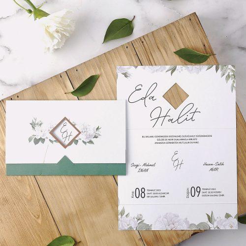 2021 Düğün Davetiyesi Modeli EKP40160