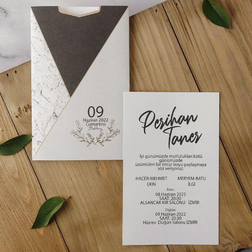 2021 Düğün Davetiyesi Modeli EKP40165