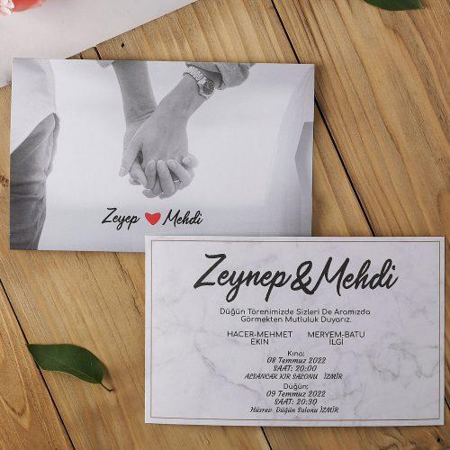 2021 Düğün Davetiyesi Modeli EKP40170