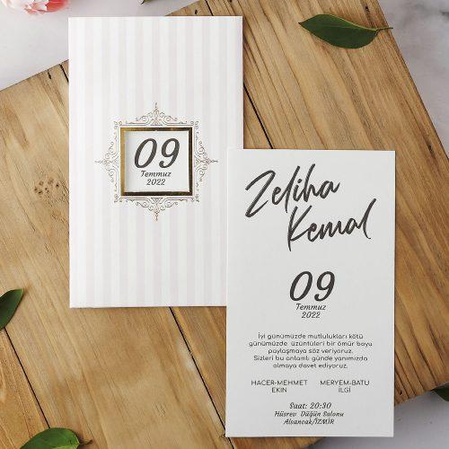 2021 Düğün Davetiyesi Modeli EKP40175
