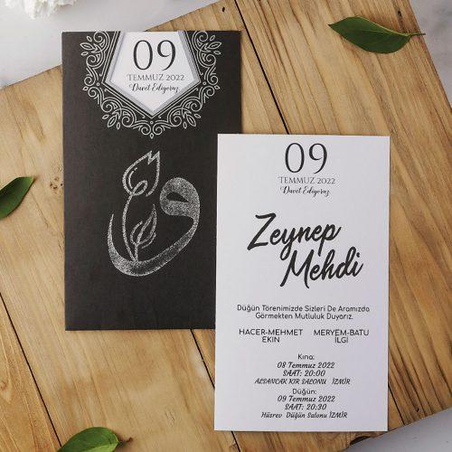 2021 Düğün Davetiyesi Modeli EKP40176