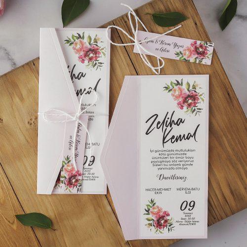 2021 Düğün Davetiyesi Modeli EKP40184