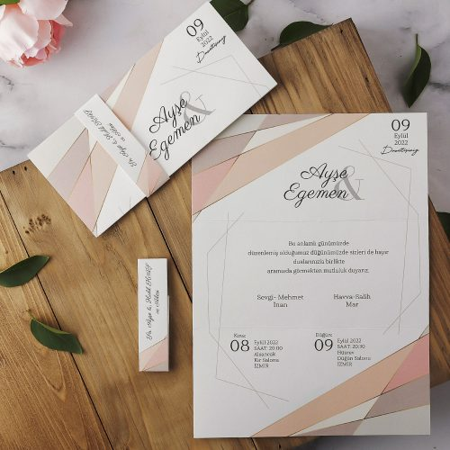 2021 Düğün Davetiyesi Modeli EKP40189