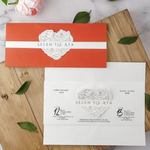2021 Düğün Davetiyesi Modeli EKP40215