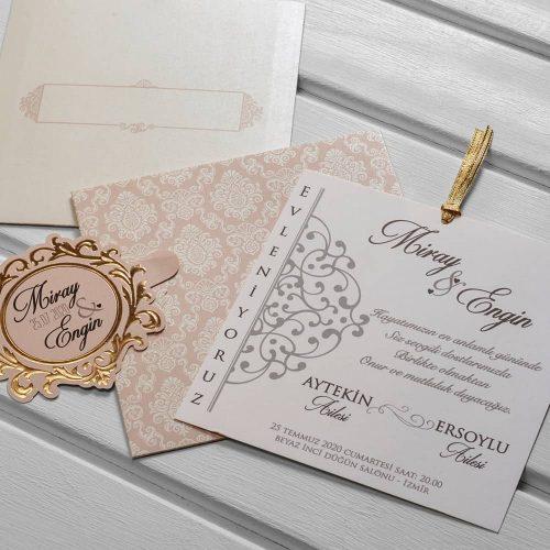 Çekmeli Düğün Davetiyesi KL10515