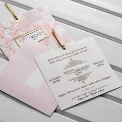 Sade Düğün Davetiyesi KL10560
