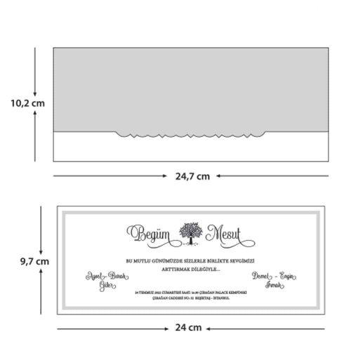 Sade Düğün Davetiyesi EB1112