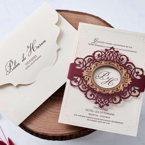 İlginç Düğün Davetiyesi EB1114