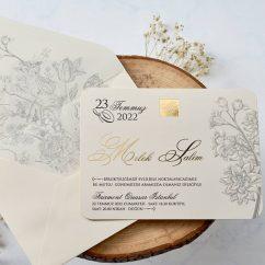 Çiçekli Düğün Davetiyesi EB1123