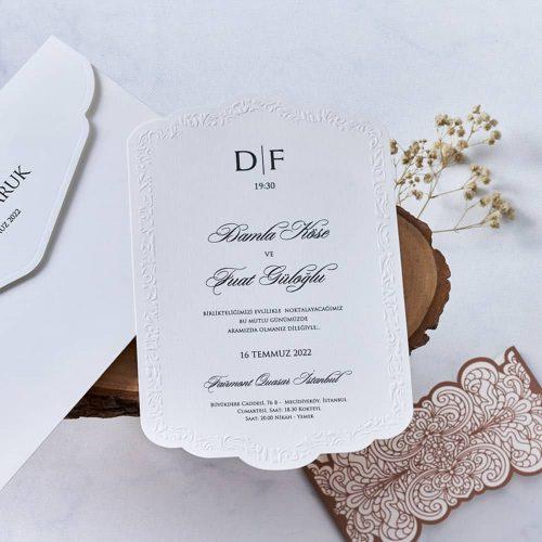 Sade Düğün Davetiyesi EB1133