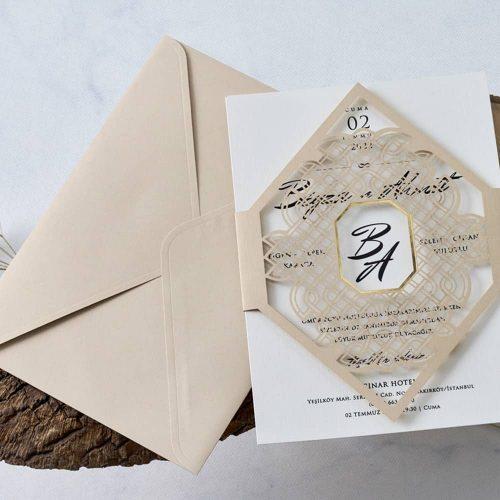 İlginç Düğün Davetiyesi EB1139