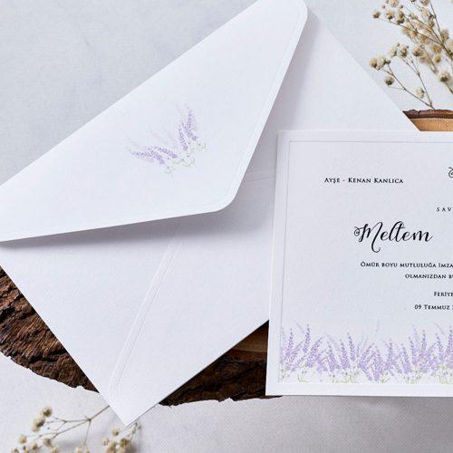 Lavanta Düğün Davetiyesi EB1141