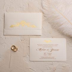 Yaldızlı Sade Düğün Davetiyesi EKO9126