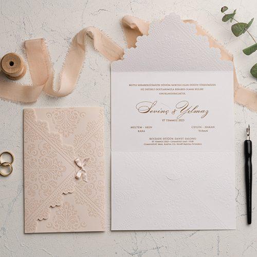 Kurdeleli Düğün Davetiyesi EKO9127