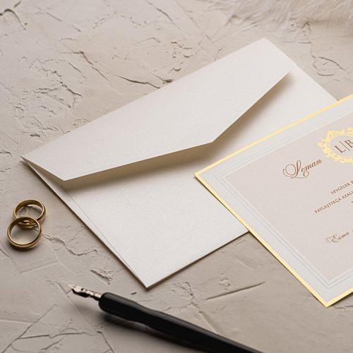 Yaldızlı Sade Düğün Davetiyesi EKO9133
