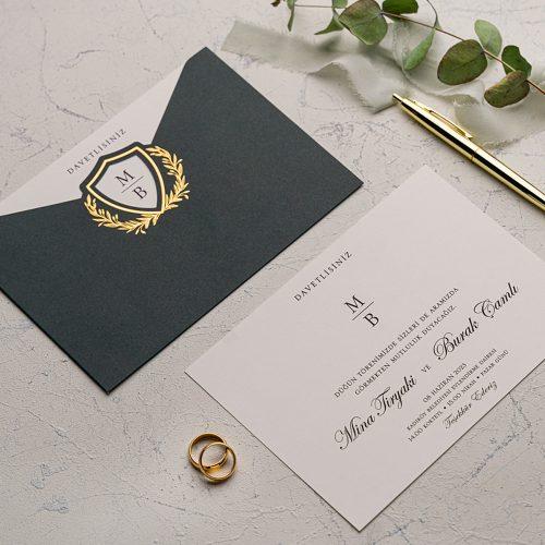 Sade Düğün Davetiyesi EKO9137