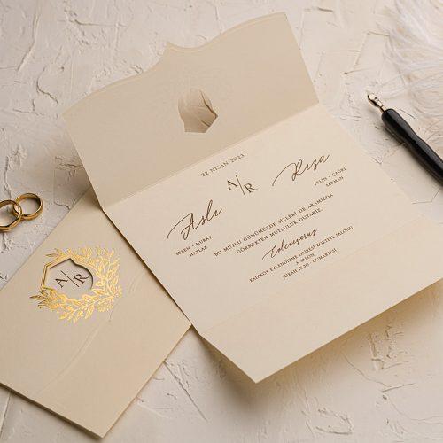 Katlamalı Düğün Davetiyesi EKO9158