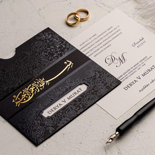 Besmeleli Düğün Davetiyesi EKO9179