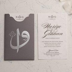 Elif Vav İslami Düğün Davetiyesi EKO9181