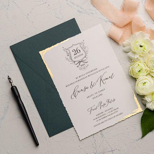 Mühürlü Düğün Davetiyesi EKO9193