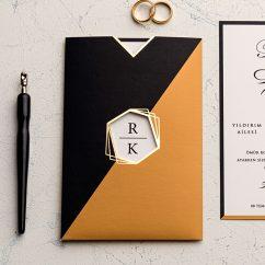 Özel Zarflı Düğün Davetiyesi EKO9226