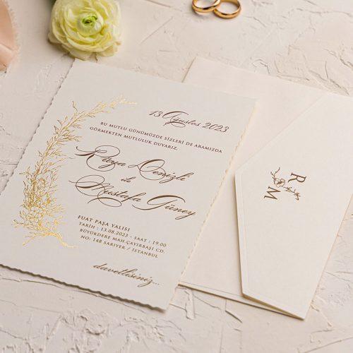 Sade Düğün Davetiyesi EKO9229