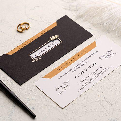 Siyah Düğün Davetiyesi EKO9235