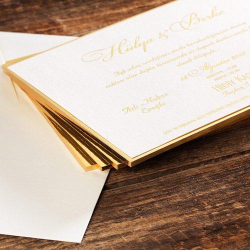 Sade Lüks Düğün Davetiyesi ERD50509