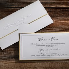 Beyaz Temalı Sade Lüks Düğün Davetiyesi ERD50522
