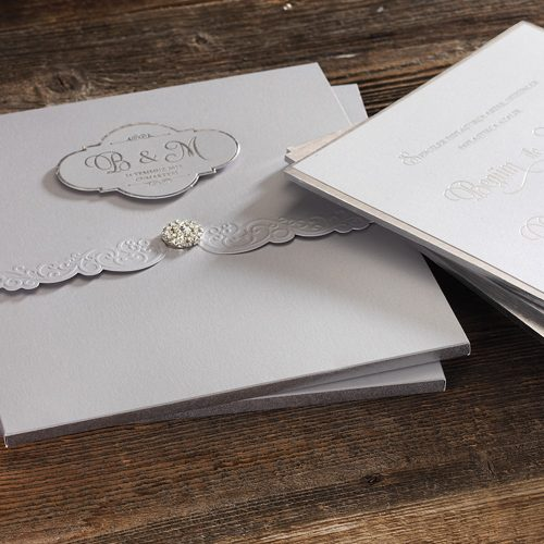 Lazer Kesimli Lüks Düğün Davetiyesi ERD50547