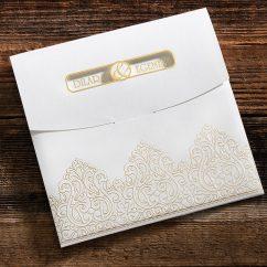 Şık Motiflerle Süslü Düğün Davetiyesi ERD50554
